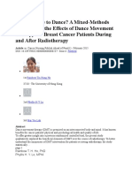A Good Time to Dance a Mixed-Methods Approach of the Effects of Dance Movement Therapy for Breast Cancer Patients During and After Radiotherapy