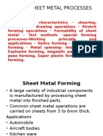 Unit IV Sheet Metal Processes