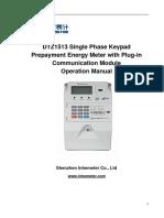 11.1 DDZ1513 Single Phase Keypad Prepayment Energy Meter(Plug-In Module Type)
