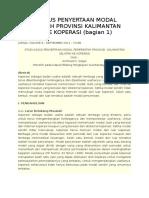Studi Kasus Penyertaan Modal Pemerintah Provinsi Kalimantan Selatan Ke Koperasi