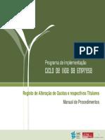Manual Alteração Quotas