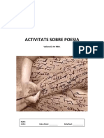 Antologia Poesia Activitats