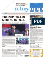 Asbury Park Press Front Page, Oct. 16, 2016