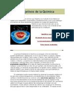 Objetivos de La Quimica