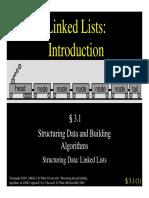 3.1 - Linked List Intro