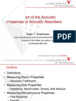 Measurement of the Acoustic Properties of Acoustic Absorbers