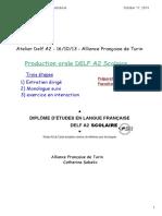 Atelier Production Orale Delf a2 - 16-10-13