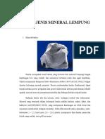 Tugas Mineral Lempung