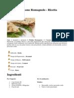 Piadina e Cassone Romagnolo - Ricetta