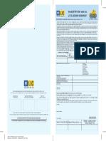 LIC Policy Documents Jeevan Akshay-VI Front