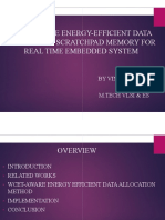 WCET-AWARE ENERGY ALLOCATION SCRATCHPAD MEMORY FOR REAL TIME EMBEDDED SYSTEM AWARE ENERGY-EFFICIENT DATA ALLOCATION SCRATCHPAD MEMORY FOR REAL TIME EMBEDDED SYSTEM