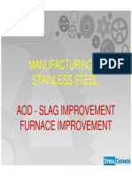 Stainless Steel AOD Operation and Slag Optimisation