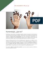 Cartas de Numerologia