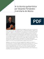 En Busca de La Técnica Guitarrística Paganini