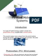 PV-Wind Hybrid Systems