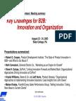 Key Challanges for Btob Aug05