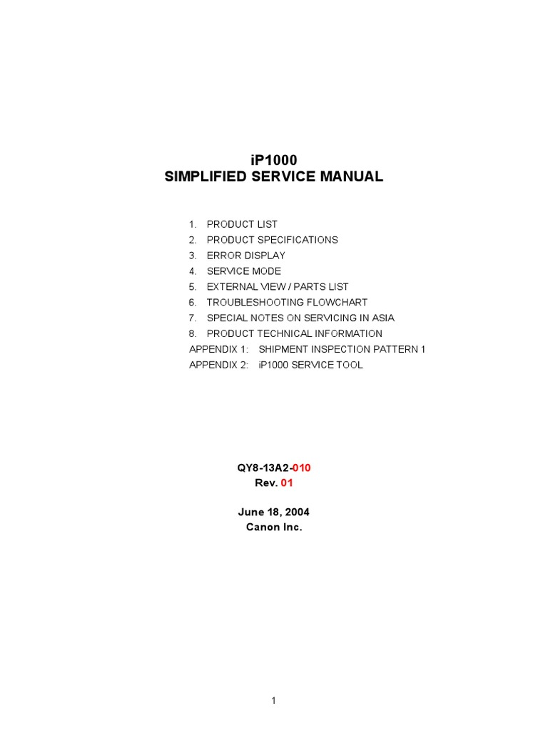Amazon. Com: canon pixma ip100 printer parts catalog and service.