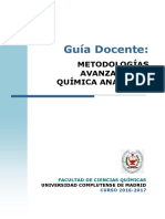 GQ_Guia Docente Metodologias Avanzadas Quimica Analitica_2016_FINAL