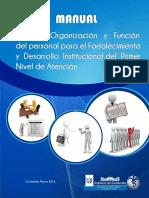 Manual de Gestion, Organizacion y Funciones Del Personal de primer nivel de atencion