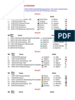 2010 FIFA World Cup Schedule