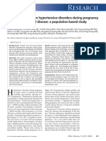 Association Between Hypertensive Disorders During Pregnancy