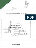 Plan de Manejo Monumento Natural La Portada