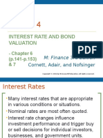 Lecture 4 (Interest Rate and Bond Valuation)
