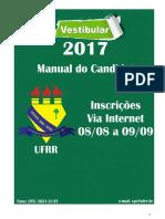 Manual Do Candidato - Vestibular Ufrr 2017 Atualizado
