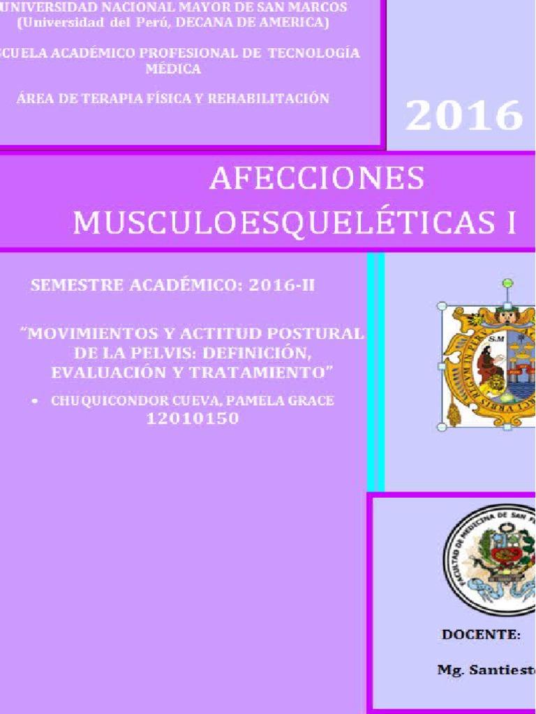 Movimientos y Actitud Postural de La Pelvis.definición, Evaluación y ...