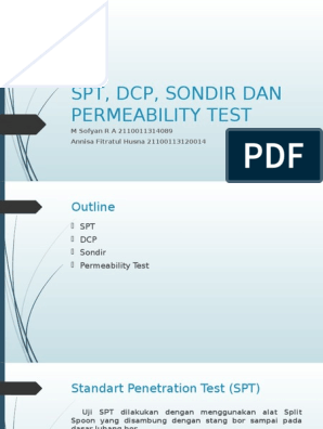 Presentasi Praktikum Spt Dcp Sondir Tanpa Video
