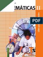 LIBRO MATEMATICAS II TELESECUNDARIA