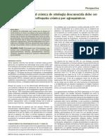 La enfermedad renal crónica de etiología desconocida debe ser renombrada como nefropatía crónica por agroquímicos