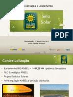 Lancamento Selo Solar