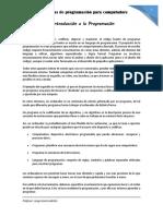 Manual de Introducción a La Programación