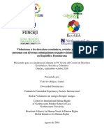 Informe Al CESCR-OnU Sobre Discriminacion Por OSIG en República Dominicana