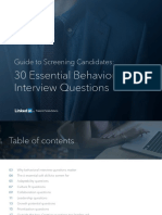 Guide to Screening Candidates 30 Essential Behavioral Interview Questions to Ask eBook Smb