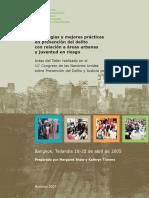 Estrategias y Mejores Practicas Areas Urbanas y Juventud en Riesgo ESP