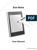 Eee Note User Manual EU