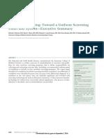 2006 Newborn Screening. Toward a Uniform Screening Panel and System (Executive Summary). PED.pdf