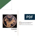 ILIADE di Omero - Libro nono - Prove di traduzione interlineare con note grammaticali e vocabolario essenziale in linea
