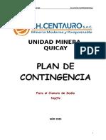 Plan de Contingencia Para Cianuro 2009 Ok.