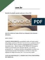 Modelo de Petição Inicial Conforme o Novo CPC