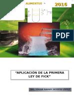 Informe 1 Aplicacion de La Primera Ley de Fick