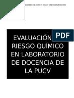 Evaluación de Riesgo Químico en Laboratorio de Docencia de La Pucv