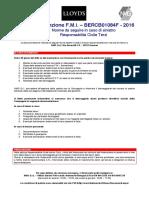 Procedura e Modulo Denuncia RCT 2016