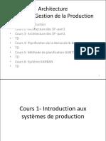 Cours 1- Introduction Aux Systèmes de Production