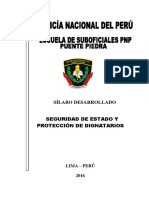 Silabo Protección Dignatario III Semestre Op