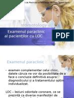 Examenul paraclinic stomatologic