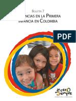 Boletín No. 7 Violencias en la primera infancia en Colombia