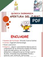 Apertura de Quimica Inorganica